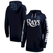 Wholesale Cheap Tampa Bay Rays G-III 4Her by Carl Banks Women's Extra Innings Pullover Hoodie Navy