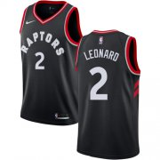 Wholesale Cheap Nike Toronto Raptors #2 Kawhi Leonard Black NBA Swingman Statement Edition Jersey