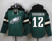 Wholesale Cheap Nike Eagles #12 Randall Cunningham Midnight Green Player Pullover NFL Hoodie