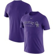 Wholesale Cheap Colorado Rockies Nike MLB Practice T-Shirt Purple