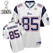 Wholesale Cheap Patriots #85 Chad Ochocinco White Super Bowl XLVI Embroidered NFL Jersey