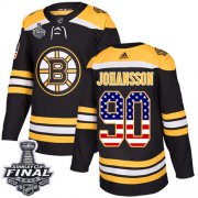 Wholesale Cheap Adidas Bruins #90 Marcus Johansson Black Home Authentic USA Flag 2019 Stanley Cup Final Stitched NHL Jersey