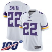 Wholesale Cheap Nike Vikings #22 Harrison Smith White Men's Stitched NFL 100th Season Vapor Limited Jersey