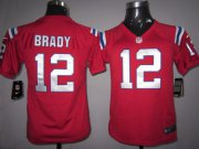 Wholesale Cheap Nike Patriots #12 Tom Brady Red Alternate Youth Stitched NFL Elite Jersey