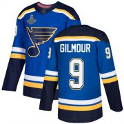 Wholesale Cheap Adidas Blues #9 Doug Gilmour Blue Home Authentic Stanley Cup Champions Stitched NHL Jersey