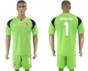 Wholesale Cheap Sevilla #1 Sergio Rico Green Goalkeeper Soccer Club Jersey