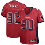 Wholesale Cheap Nike Texans #90 Jadeveon Clowney Red Alternate Women's Stitched NFL Elite Drift Fashion Jersey