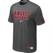 Wholesale Cheap Los Angeles Angels Nike Short Sleeve Practice MLB T-Shirt Crow Grey