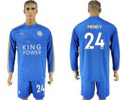Wholesale Cheap Leicester City #24 Mendy Home Long Sleeves Soccer Club Jersey