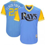 "Wholesale Cheap Rays #22 Chris Archer Light Blue ""Flaco Fuert"" Players Weekend Authentic Stitched MLB Jersey"