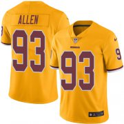 Wholesale Cheap Nike Redskins #93 Jonathan Allen Gold Youth Stitched NFL Limited Rush Jersey