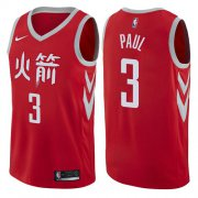 Wholesale Cheap Nike Houston Rockets #3 Chris Paul Red NBA Swingman City Edition Jersey