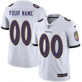 Wholesale Cheap Nike Baltimore Ravens Customized White Stitched Vapor Untouchable Limited Men\'s NFL Jersey