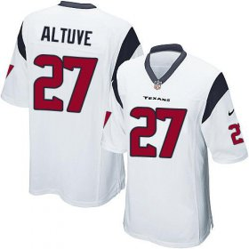 Wholesale Cheap Nike Texans #27 Jose Altuve White Youth Stitched NFL Elite Jersey