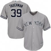 Wholesale Cheap Yankees #39 Mike Tauchman Grey New Cool Base Stitched Youth MLB Jersey