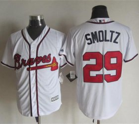 Wholesale Cheap Braves #29 John Smoltz White New Cool Base Stitched MLB Jersey