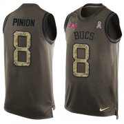 Wholesale Cheap Nike Buccaneers #8 Bradley Pinion Green Men's Stitched NFL Limited Salute To Service Tank Top Jersey