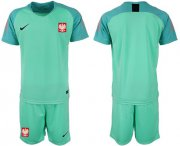 Wholesale Cheap Poland Blank Green Goalkeeper Soccer Country Jersey