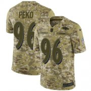 Wholesale Cheap Nike Ravens #96 Domata Peko Sr Camo Men's Stitched NFL Limited 2018 Salute To Service Jersey