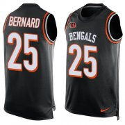 Wholesale Cheap Nike Bengals #25 Giovani Bernard Black Team Color Men's Stitched NFL Limited Tank Top Jersey