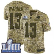 Wholesale Cheap Nike Rams #13 Kurt Warner Camo Super Bowl LIII Bound Youth Stitched NFL Limited 2018 Salute to Service Jersey