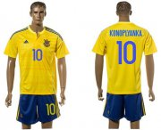 Wholesale Cheap Ukraine #10 Konoplyanka Home Soccer Country Jersey