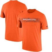 Wholesale Cheap Denver Broncos Nike Sideline Seismic Legend Performance T-Shirt Orange