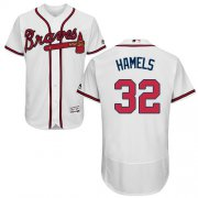 Wholesale Cheap Braves #32 Cole Hamels White Flexbase Authentic Collection Stitched MLB Jersey