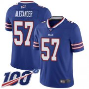 Wholesale Cheap Nike Bills #57 Lorenzo Alexander Royal Blue Team Color Men's Stitched NFL 100th Season Vapor Limited Jersey