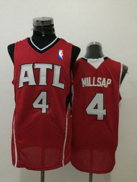 Wholesale Cheap Men\'s Atlanta Hawks #4 Paul Millsap Red Swingman Jersey