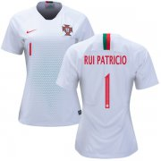 Wholesale Cheap Women's Portugal #1 Rui Patricio Away Soccer Country Jersey