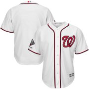 Wholesale Cheap Washington Nationals Majestic 2019 World Series Champions Home Official Cool Base Bar Patch Jersey White