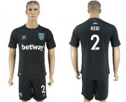 Wholesale Cheap West Ham United #2 Reid Away Soccer Club Jersey