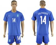 Wholesale Cheap Greece #14 Salpingidis Away Soccer Country Jersey