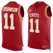 Wholesale Cheap Nike Chiefs #11 Demarcus Robinson Red Team Color Men's Stitched NFL Limited Tank Top Jersey