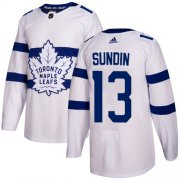 Wholesale Cheap Adidas Maple Leafs #13 Mats Sundin White Authentic 2018 Stadium Series Stitched Youth NHL Jersey