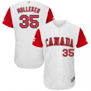 Wholesale Cheap Team Canada #35 Dustin Molleken White 2017 World MLB Classic Authentic Stitched MLB Jersey