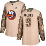 Wholesale Cheap Adidas Islanders #9 Clark Gillies Camo Authentic 2017 Veterans Day Stitched NHL Jersey