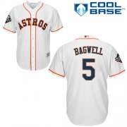Wholesale Cheap Astros #5 Jeff Bagwell White Cool Base 2019 World Series Bound Stitched Youth MLB Jersey