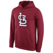 Wholesale Cheap St.Louis Cardinals Nike Logo Performance Pullover Red MLB Hoodie