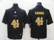 Wholesale Cheap Men's New Orleans Saints #41 Alvin Kamara Black 2020 Shadow Logo Vapor Untouchable Stitched NFL Nike Limited Jersey