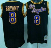 Wholesale Cheap Los Angeles Lakers #8 Kobe Bryant 1996-97 Black Hardwood Classics Soul Swingman Throwback Jersey