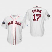 Wholesale Cheap Red Sox #17 Nathan Eovaldi White New Cool Base 2018 World Series Stitched MLB Jersey