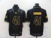 Wholesale Cheap Men's New Orleans Saints #41 Alvin Kamara Black Gold 2020 Salute To Service Stitched NFL Nike Limited Jersey
