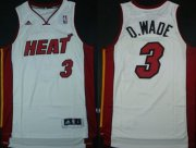 Wholesale Cheap Miami Heat #3 D.Wade Revolution 30 Swingman White Jersey