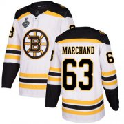 Wholesale Cheap Adidas Bruins #63 Brad Marchand White Road Authentic Stanley Cup Final Bound Stitched NHL Jersey