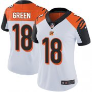 Wholesale Cheap Nike Bengals #18 A.J. Green White Women's Stitched NFL Vapor Untouchable Limited Jersey