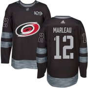 Wholesale Cheap Adidas Hurricanes #12 Patrick Marleau Black 1917-2017 100th Anniversary Stitched NHL Jersey