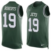 Wholesale Cheap Nike Jets #19 Andre Roberts Green Team Color Men's Stitched NFL Limited Tank Top Jersey