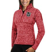Wholesale Cheap Los Angeles Kings Antigua Women's Fortune 1/2-Zip Pullover Sweater Red